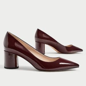 ZARA Pointed Medium Heel Shoes